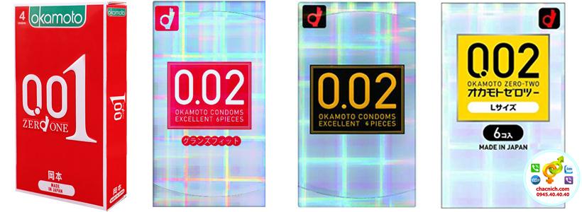 Bao okamoto 0.01mm và 0.02mm là Những loại bao cao su không chứa latex