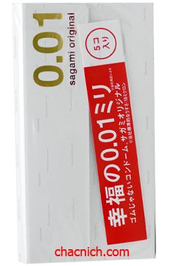Bao Cao Su Sagami Original 0.01mm Cực Siêu Mỏng Cho Cảm Giác Chân Thật