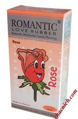 Bao Cao Su Hương Hoa Hồng Romantic Rose