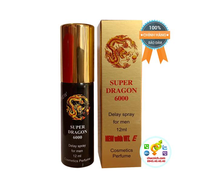 Chai Xịt Kéo Dài Thời Gian Yêu Hơn 30 Phút Super Dragon 6000 ( Phân Biệt Chính hãng )