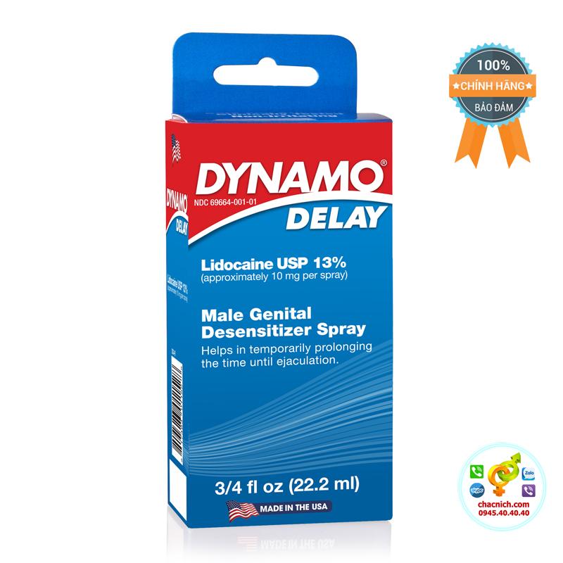 Chai xịt chống xuất tinh sớm hiệu quả Dynamo Delay