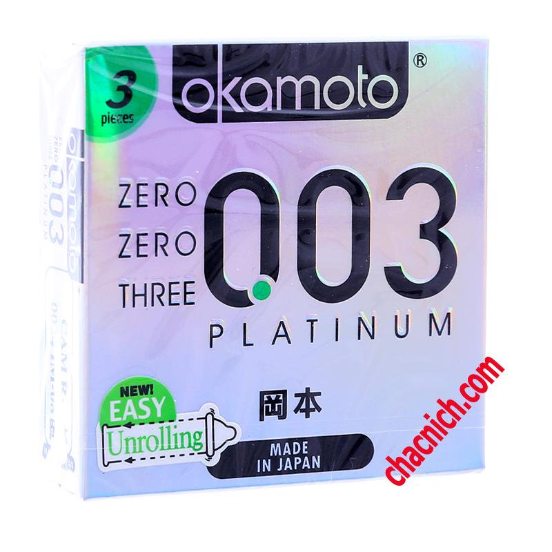 Bao Cao Su Okamoto Platinum 003 Cao Cấp