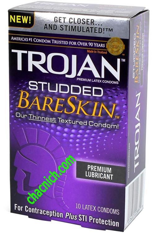 BCS Cao Cấp Có Gai Trojan Studded BareSkin