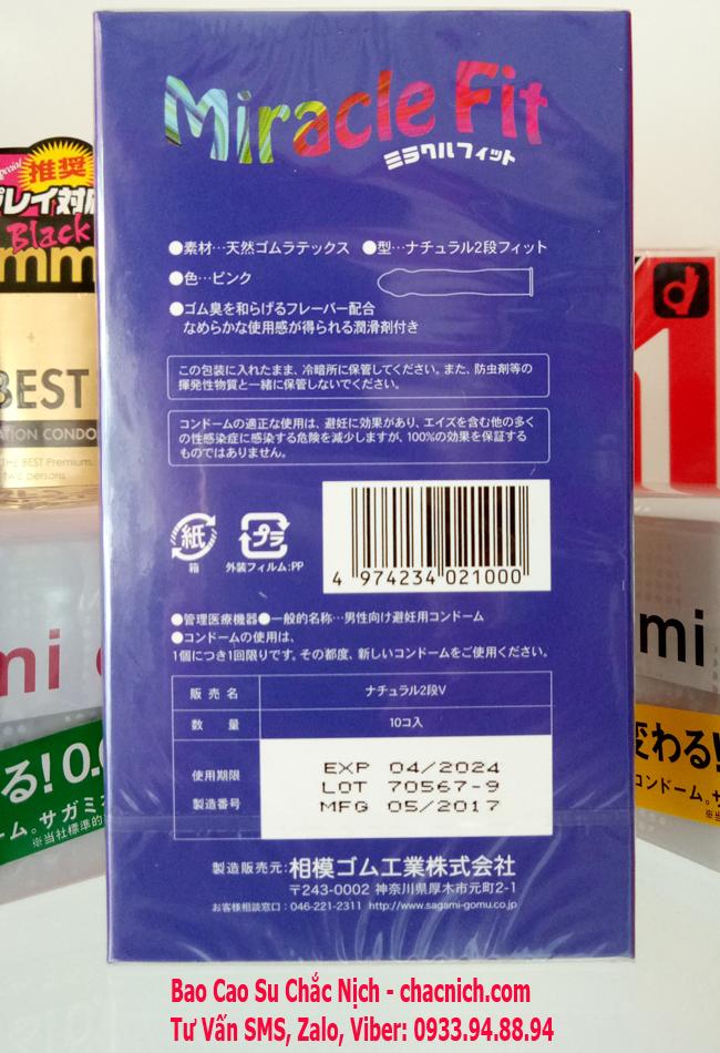 BCS Sagami Miracle Fit ( Kích thước ôm sát 49mm )