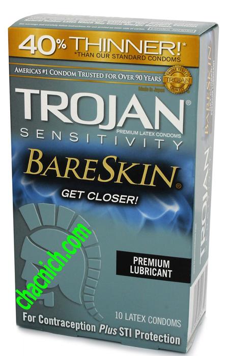 Bao Cao Cấp Trojan Sensitivity BareSkin Mỏng Và Mềm Mại
