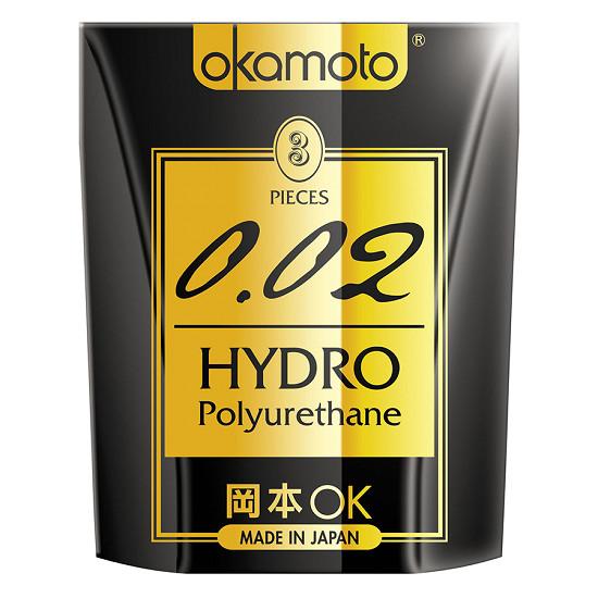 Hộp 3 Bao Cao Su Cực Siêu Mỏng Okamoto 0.02 Hydro ( Chính hãng )