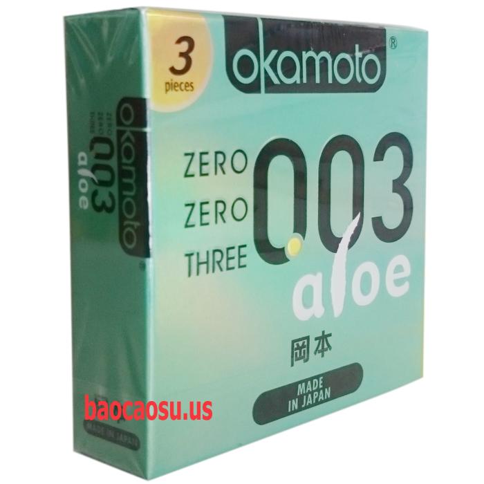 Okamoto 0.03 Aloe cực mỏng và siêu mềm mại