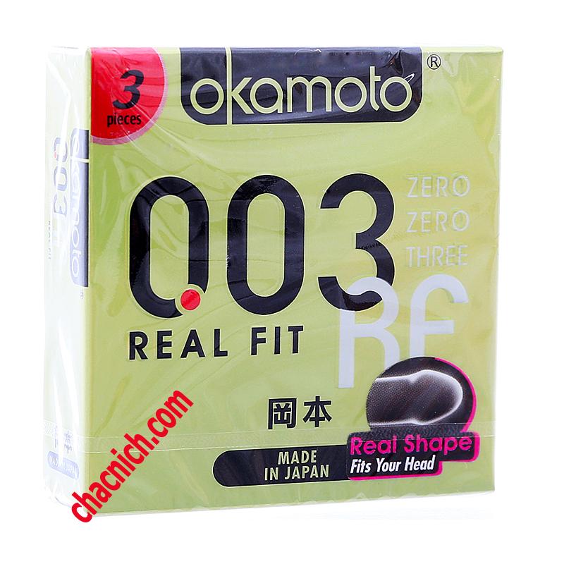 Bao cao su cao cấp Okamoto Real Fit 3D