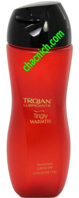 Gel Trojan Tingly Warmth (Bôi Trơn Tăng Khoái Cảm)