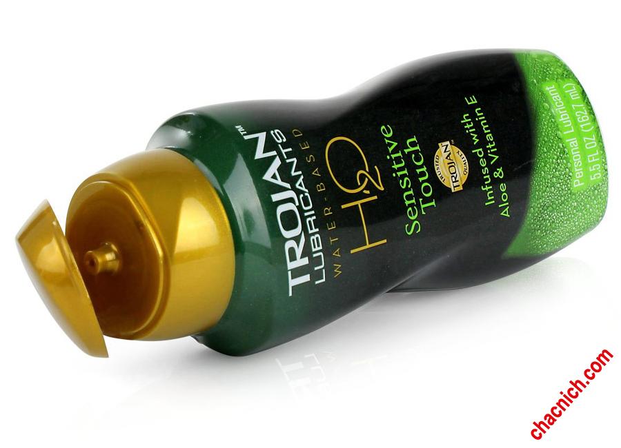 Trojan H2O Sensitive Touch Bôi Trơn và Bổ Sung Vitamin E