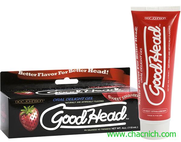 Gel Quan Hệ Bằng Miệng Hương Dâu Doc Johnson GoodHead Strawberry
