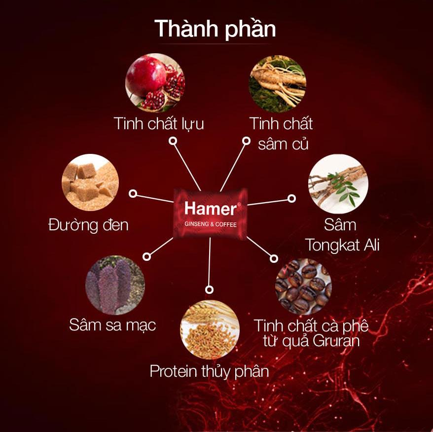 Kẹo Sâm Tăng Cường SL nam Hamer Ginseng & Coffee