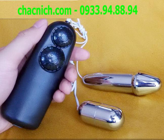 Trứng Inox 2 đầu rung nhiều tần xuất mạnh nhẹ khác nhau Hot Bullet